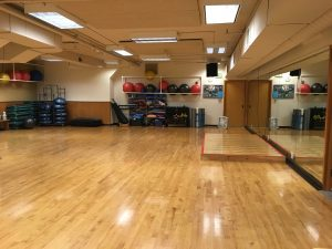 A large space with wood floors at our Cornwall location
