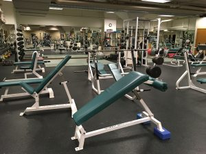 The weight room at our Cornwall location